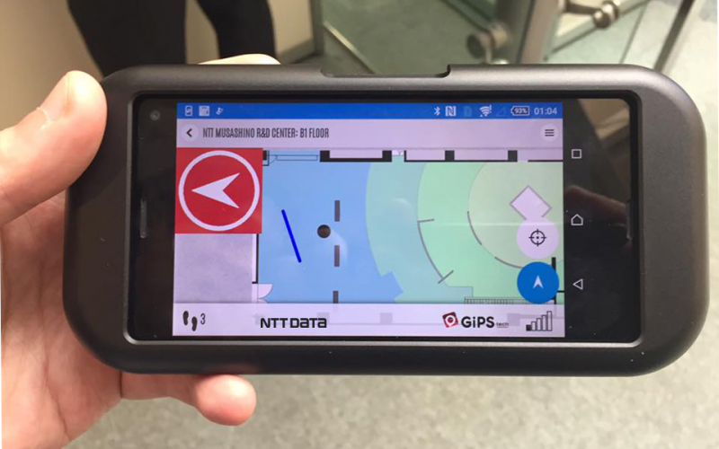 "GiPStech with NTT and NTT Data for a ""tactile"" indoor and outdoor navigation technology"