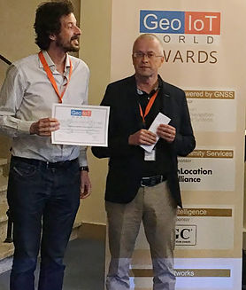 GeoIoT award for indoor localization proximity services gipstech
