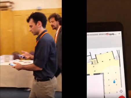 """GiPStech indoor localization test and validation during the GeoIoT """"TestBed"""""""