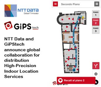 NTT Data and GiPStech announce global collaboration for distribution of High-Precision Indoor Location Services