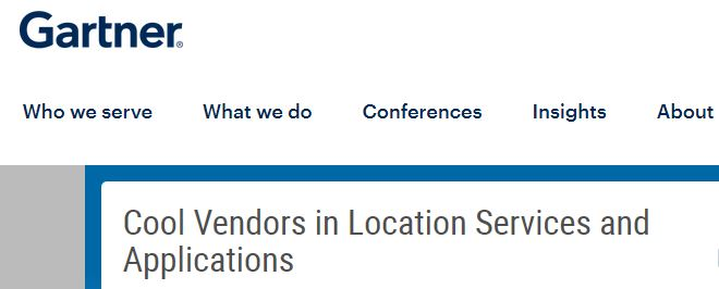 GiPStech Named a Cool Vendor 2018 in Location Services and Applications by Gartner